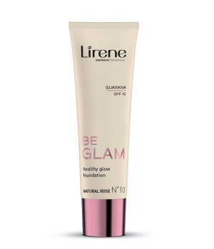 BE GLAM Rozświetlający fluid z guaraną NATURAL ROSE N˚10 SPF 15