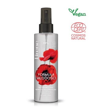 IMMEDIATELY MOISTURIZING MIST with poppy flower