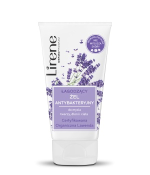 SOOTHING ANTIBACTERIAL GEL for face, hands and body cleansing Certified Organic Lavender