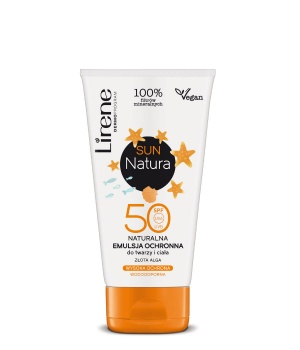Natural protective emulsion for the face and body SPF50