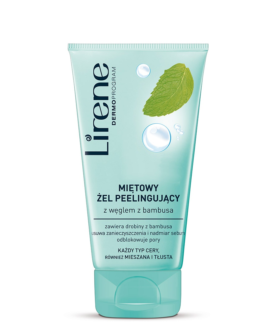 Mint peeling gel with bamboo charcoal