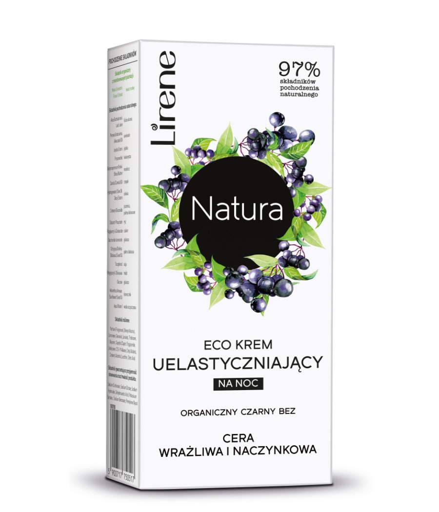 ECO CREAM for night ORGANIC BLACK LILAC, SENSITIVE AND CAPILLARY SKIN