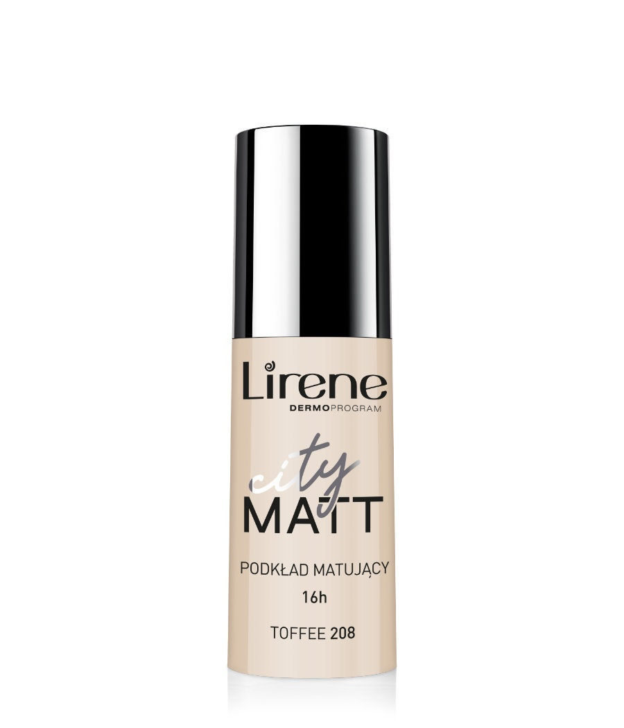 CITY MATT – Mattifying and Smoothing Fluid Foundation – toffee 208