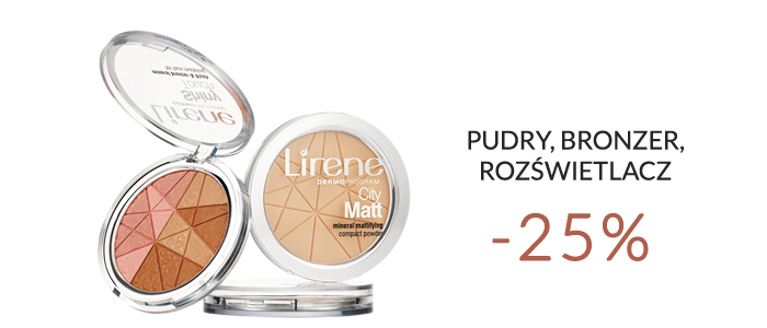Pudry mineralne -25%